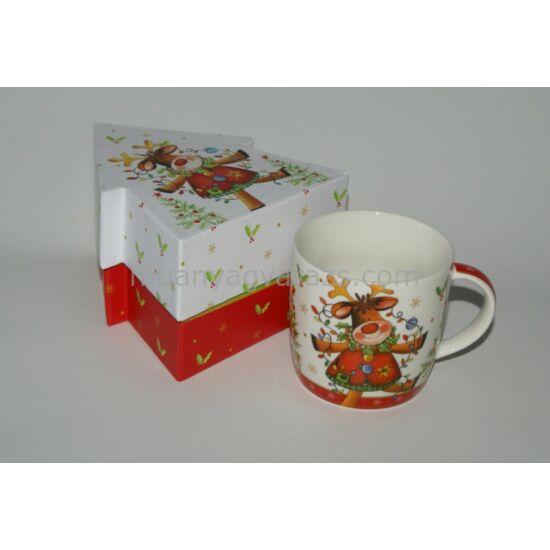 Karácsonyi bögre ajándék díszdobozban