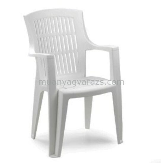 Árpa műanyag magastámlás kerti szék
