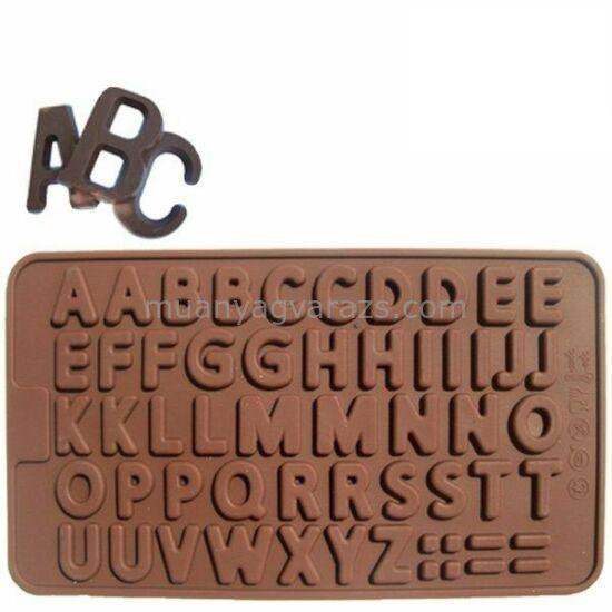 Szilikon csokiforma betűs