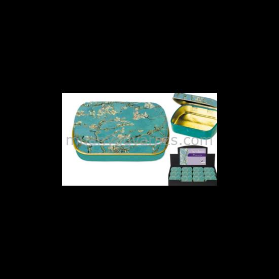 FRI.18634 Fémdoboz 6,3x1,8x5,2cm, Van Gogh:Mandulavirágzás