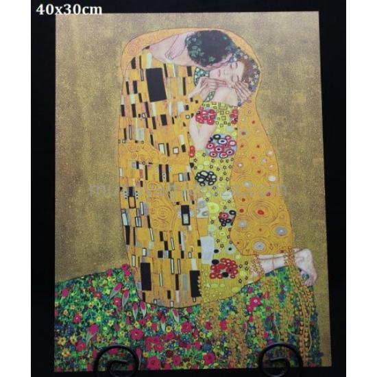 P.P.W7A80-00230 Fa kép 40x30cm,Klimt:The Kiss