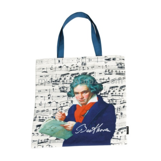 FRI.12726 Textil bevásárló táska 38x40cm,Beethoven