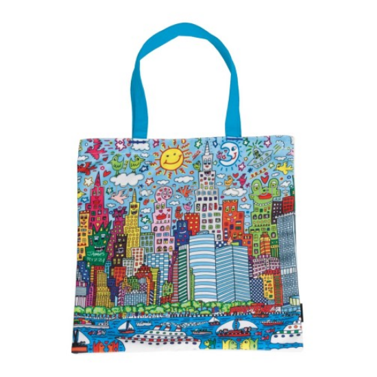 FRI.12727 Textil bevásárló táska 38x40cm,James Rizzi:My New York City