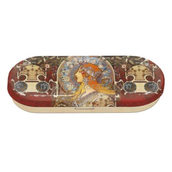 FRI.18667 Szemüvegtok fémdoboz, 16x2,8x5,5cm,Mucha:Zoodiac