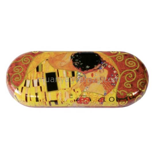 FRI.18721 Szemüvegtok fémdoboz, 16x2,8x6,6cm, Klimt:The Kiss
