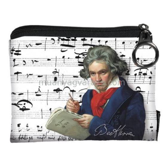 FRI.19236 Mini pénztárca textil 12x1,5x10cm,Beethoven