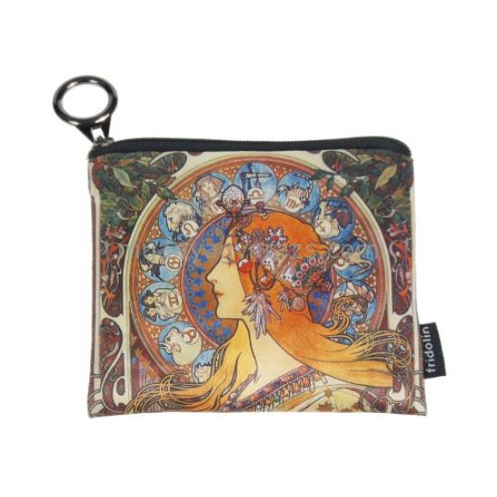 FRI.19277 Mini pénztárca textil,12x1,5x10cm,Mucha:Zodiac