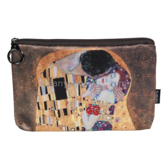 FRI.19056 Kozmetikai táska 19x2,5x13cm, Klimt:The Kiss
