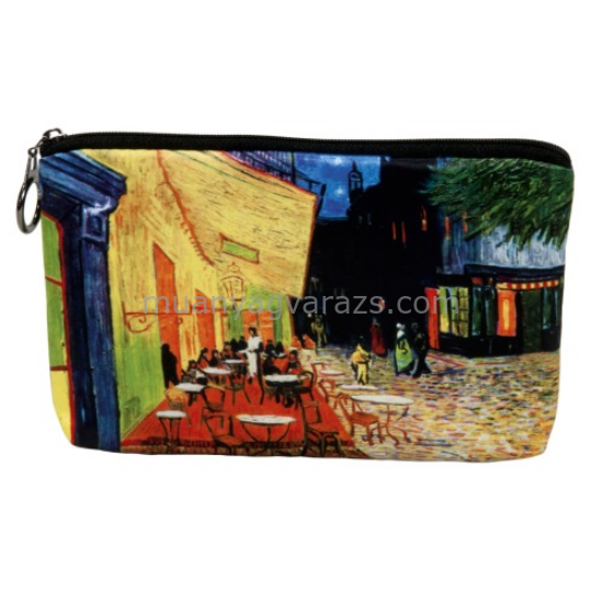 FRI.19078 Kozmetikai táska 19x2,5x13cm, Van Gogh:Kávéház éjjel