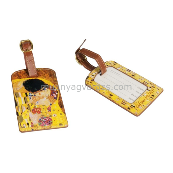 FRI.40161 Koffer címke tok 6,5x11,5cm,Klimt:The Kiss
