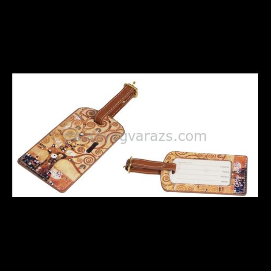 FRI.40162 Koffer címke tok 6,5x11,5cm,Klimt:Életfa