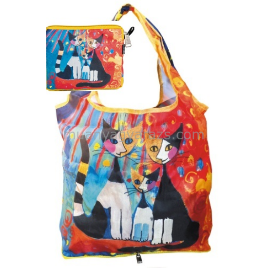 FRI.40513 Táska a táskában,nylon,Rosina Wachtmeister:We want to be together,42x48cm,összehajtva:16x13cm