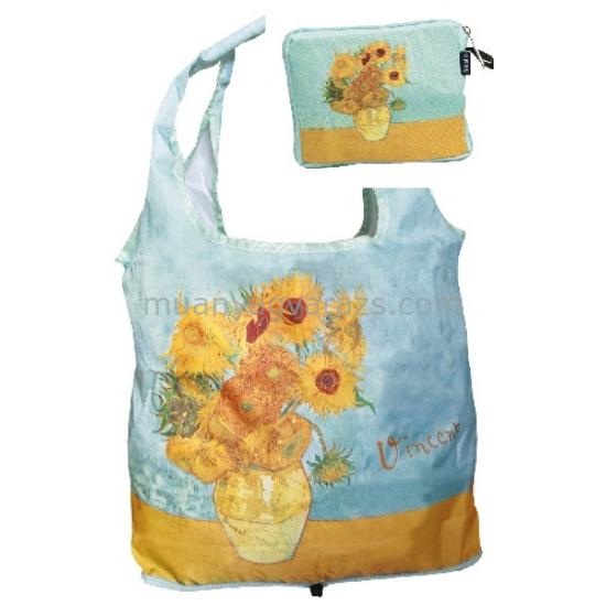 FRI.40537 Táska a táskában zippzáras,42x48cm,Van Gogh:Sunflowers