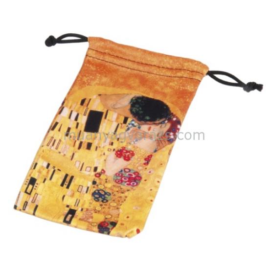 FRI.40666 Mikroszálas kis zsák 9x16cm, Klimt:The Kiss