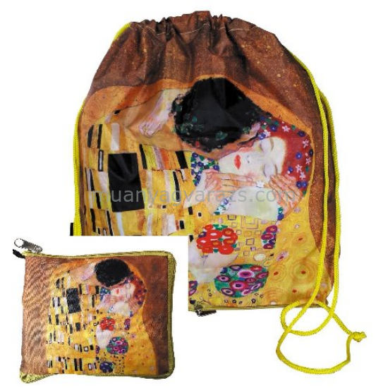 FRI.40766 Táska táskában,zippzáras 45x42x20cm,Klimt:The Kiss