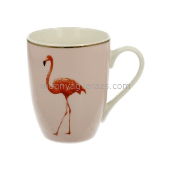 D.G.11166 Porcelán bögre Flamingóval 300ml