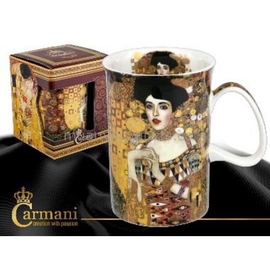 """H.C.532-7105 Porcelán bögre 0,35l,""""Klimt:Adele Bloch"""" 12,5x8cm"""