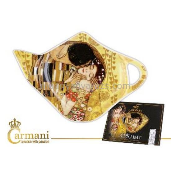 """H.C.532-1401 Porcelán teafilter tálka:""""Klimt:The Kiss""""  12,5x8cm"""