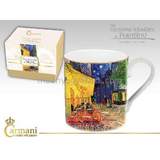 H.C.045-0106 Porcelán bögre dobozban 380ml,Van Gogh:Kávéház éjjel