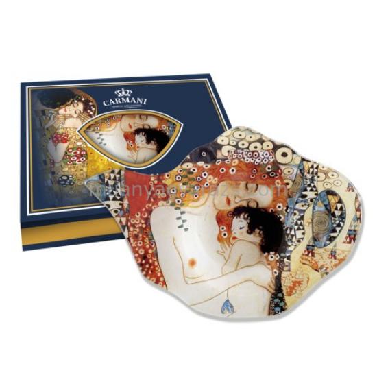 H.C.198-9006 Üveg teafiltertartó 15x11cm, Klimt: Anya gyermekével