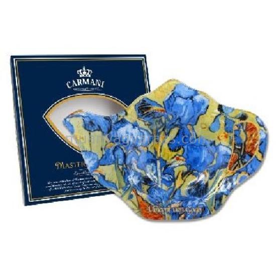 H.C.198-9305 Üveg teafiltertartó 14x9cm,Van Gogh:Íriszek
