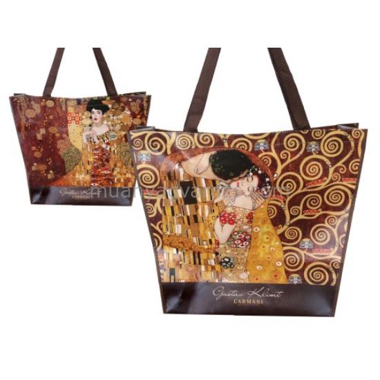 H.C.021-9000 Műanyag táska kétoldalas,46x11x38cm Klimt:The kiss/Adele