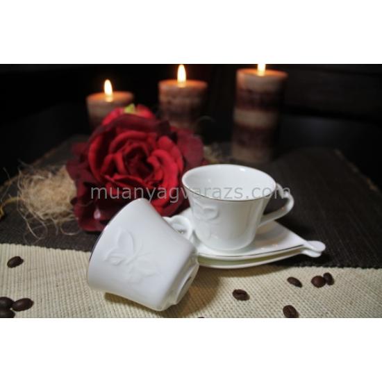 D.G.Y2-2FS90-TINOS Porcelán kávéscsésze+alj,2 személyes dobozban,90ml,Tinos