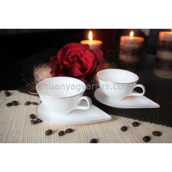 D.G.Y2-2FS90-PAROS Porcelán kávéscsésze+alj,2 személyes dobozban,90ml,Paros