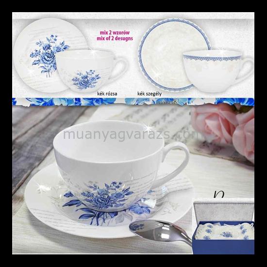 V.B.15068 Prima porcelán csésze+alj 240ml,6 személyes, dobozban