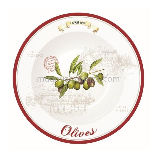 R2S.819OLIV Tésztatányér szett 4db-os, 22cm, dobozban Olives