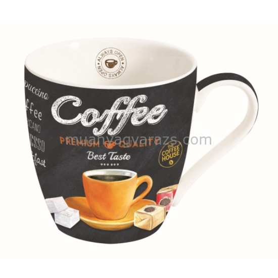 R2S.1010ICTO Porcelán bögre 350ml, dobozban, It's Coffee Time Orange