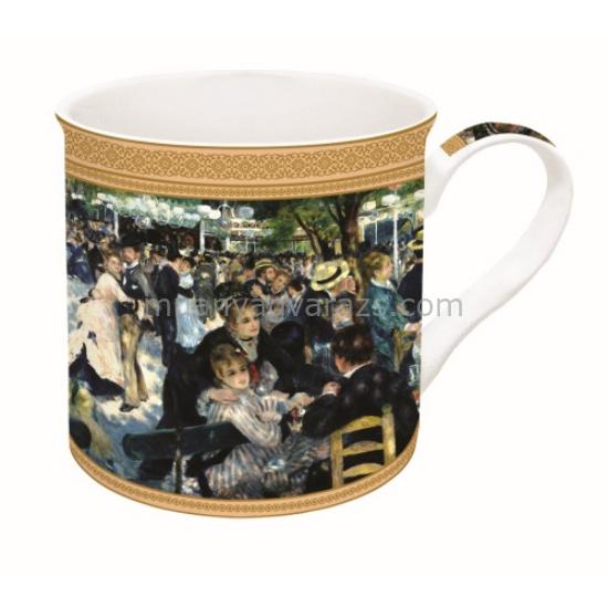 R2S.170REN1 Porcelán bögre dobozban 300ml,Renoir:Bál a Le Moulin de la Galette-nél