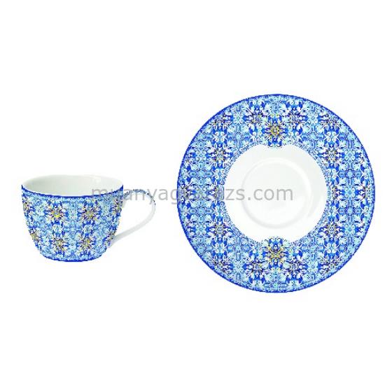 R2S.939MAIB Porcelán teáscsésze aljjal, 240ml, Maiolica Blue