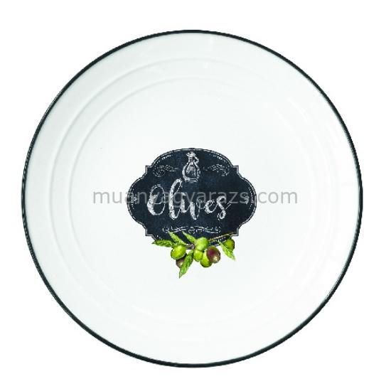 R2S.1622KIBO Porcelán desszerttányér 16cm, Kitchen Basics