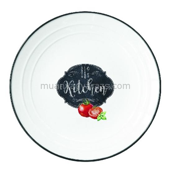 R2S.1623KIBK Porcelán tányér 21,5cm, Kitchen Basics