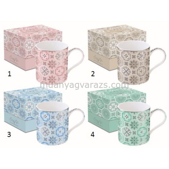 R2S.135DCTI Porcelán bögre 350ml,dobozban,Deco Chic Tiles