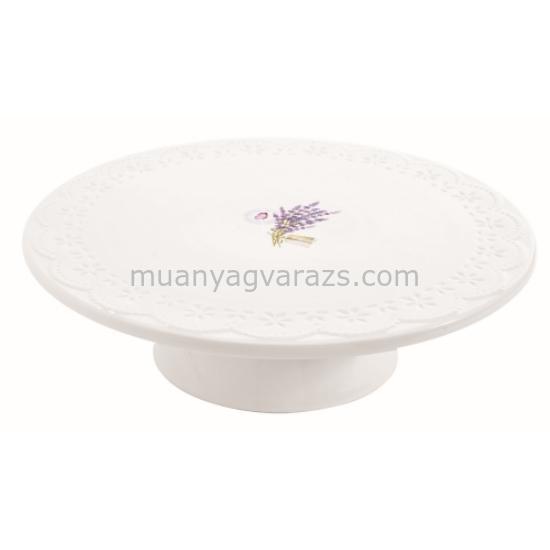 R2S.1027LAV Porcelán tortatál 26cm dobozban, Lavande
