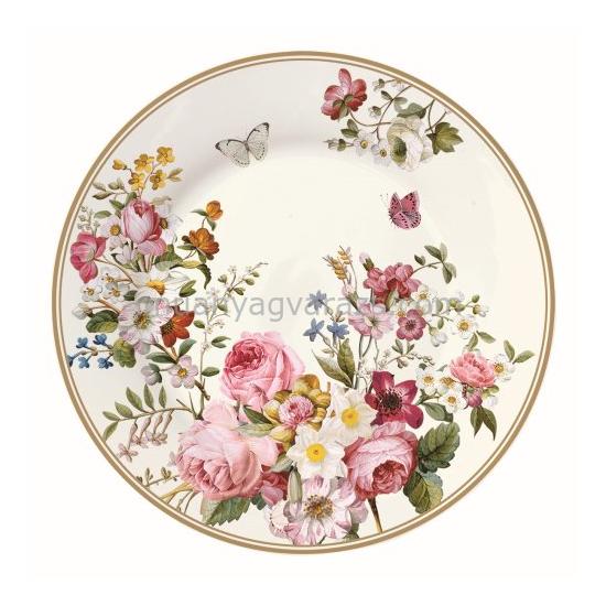 R2S.1361BLOC Tányér 19cm, Blooming Opulence cream