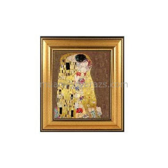 H.C.261-6103 Kép keretben, Klimt: The Kiss 12x13cm