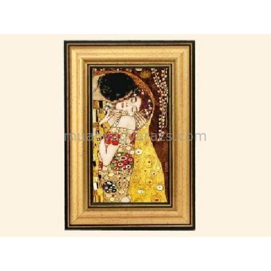 H.C.261-9321 Kép kerettel,20x13cm,Klimt:The Kiss