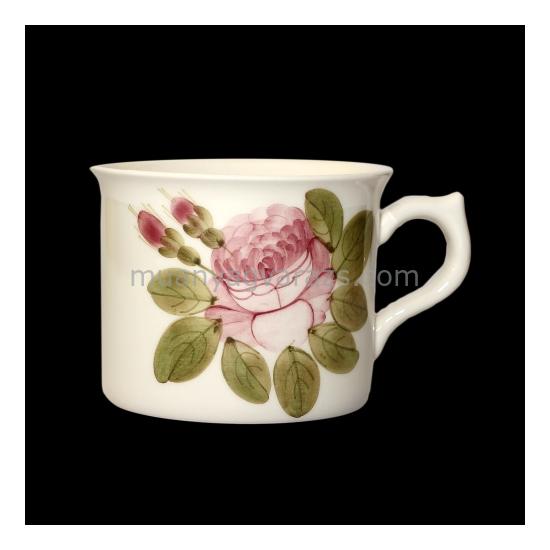 V.K.44-09 Romantik rózsás nagyibögre,kerámia,kézzel festett