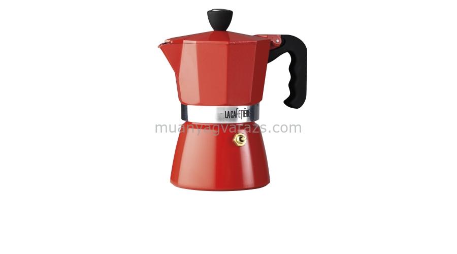 Aluminium kávéfőző 200ml (3 személyes), Classic Espresso, piros, La Cafetiére