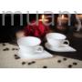 Kép 1/2 - D.G.Y2-2FS90-PAROS Porcelán kávéscsésze+alj,2 személyes dobozban,90ml,Paros