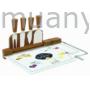 Kép 1/2 - R2S.810KIBF Sajtvágó készlet üveglapos, bambusszal, 31,5x20cm, Kitchen Basics