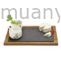 Kép 1/2 - R2S.997OFR Fa vágólap 2 porcelán tálkával porcelánkanállal,Olive Fragrances