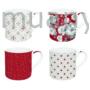 Kép 1/2 - R2S.179TCRE Porcelán bögre 4db-os 300ml, dobozban, Trend & Colours Red