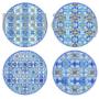 Kép 1/2 - R2S.924MAIB Porcelán desszerttányér szett 4db-os, 19cm dobozban, Maiolica Blue