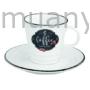 Kép 1/2 - R2S.1601KIBC Porcelán kávéscsésze + alj, 300ml, dobozban, Kitchen Basics